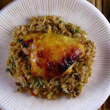 Honey-Sesame Glazed Chicken Thighs | Miss in the Kitchen