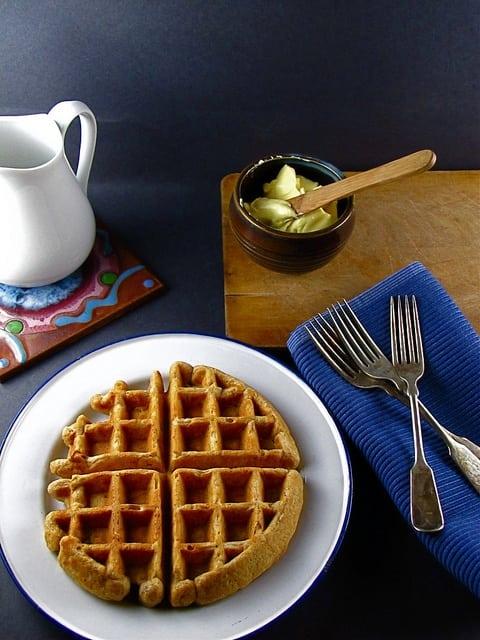 Whole Grain Waffles from www.missinthekitchen.com