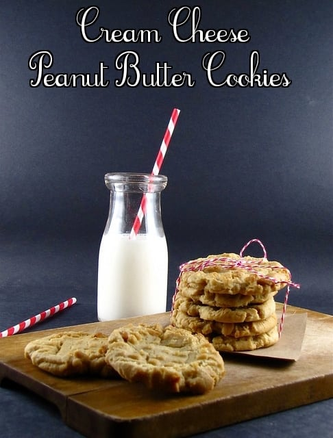 Cream Cheese Peanut Butter Cookies from www.missinthekitchen.com