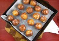 Sweet Cream Glazed Donut Holes from Miss in the Kitchen