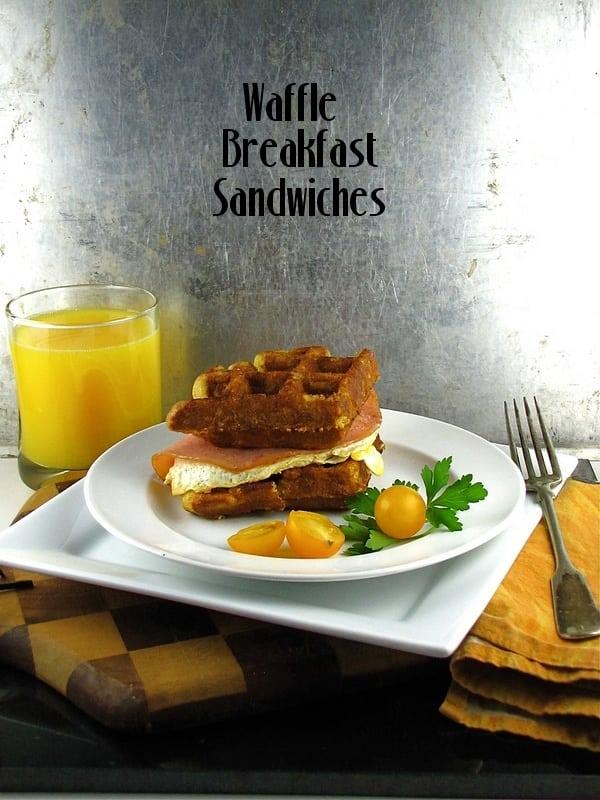 Waffle Breakfast Sandwiches from www.missinthektichen.com