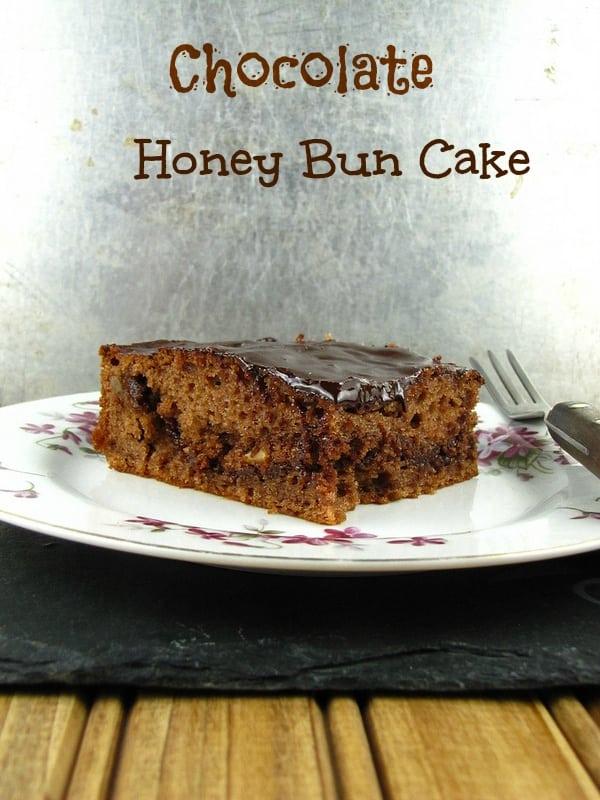 Chocolate Honey Bun Cake - Miss in the Kitchen