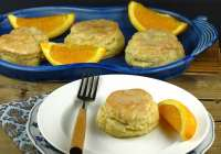 Orange Scented Scones with White Chocolate Glaze from missinthekitchen.com