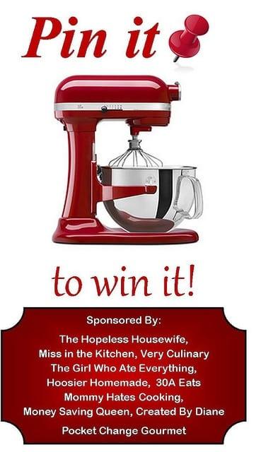 Pin it to Win it: KitchenAid Professional Series 6 Qt. Mixer - Miss in the Kitchen