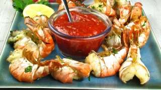 Grilled Lemon-Garlic Shrimp
