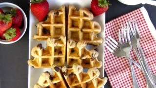 Peanut Butter-Chocolate Chip Waffles