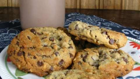 Soft Bake Peanut Butter Cookies with Mini Chocolate Chips