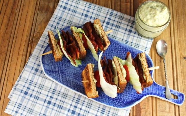 blt on a stick - miss in the kitchen