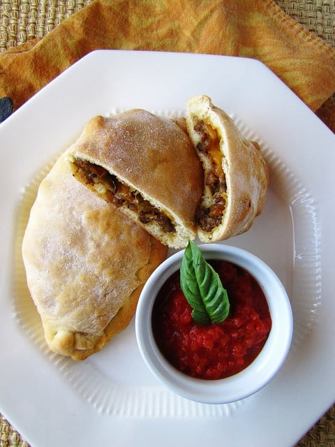Sausage-Pepper-Calzones