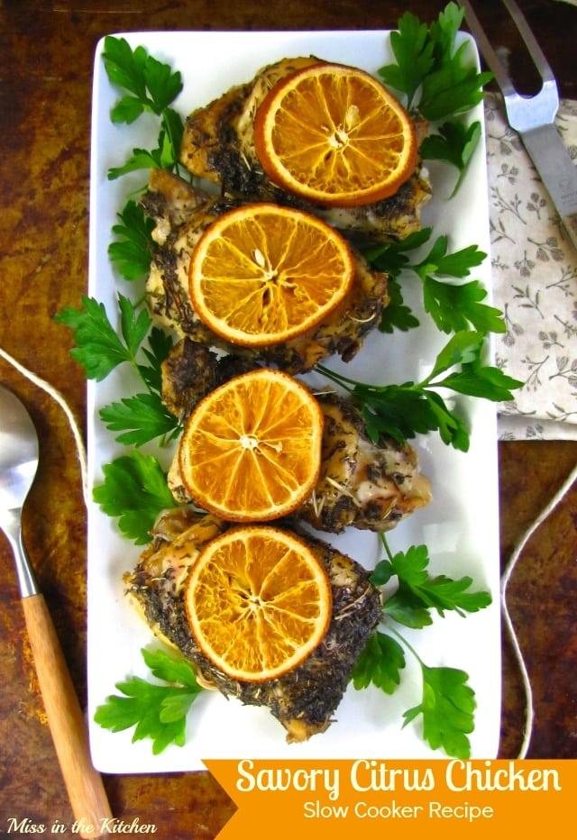 Savory Citrus Chicken Recipe from MissintheKitchen