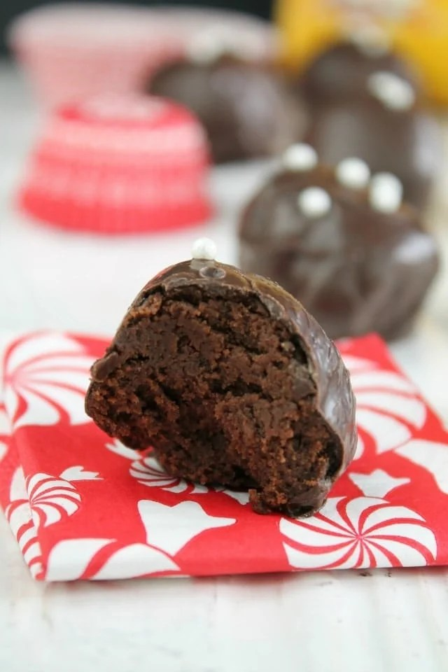 Mocha Brownie Truffles