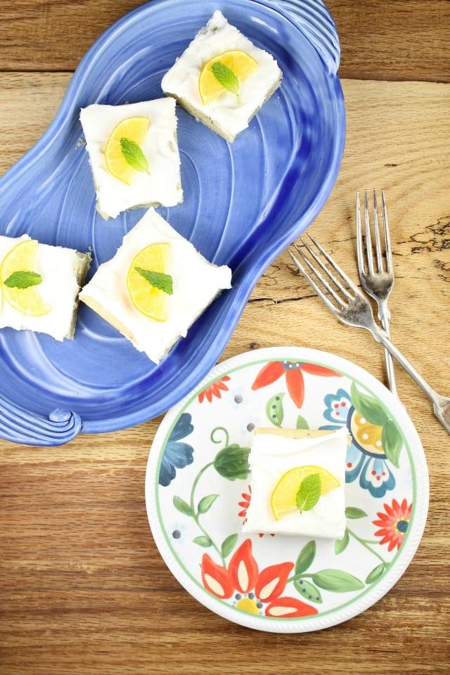 Meyer Lemon Poppy Seed Bars Recipe