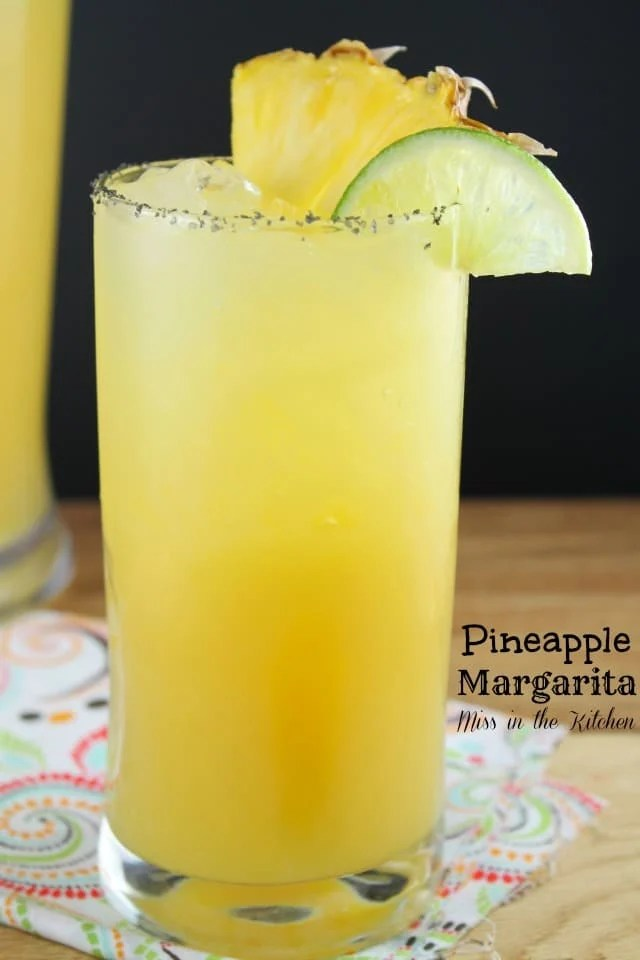 Pineapple Margaritas from MissintheKitchen.com