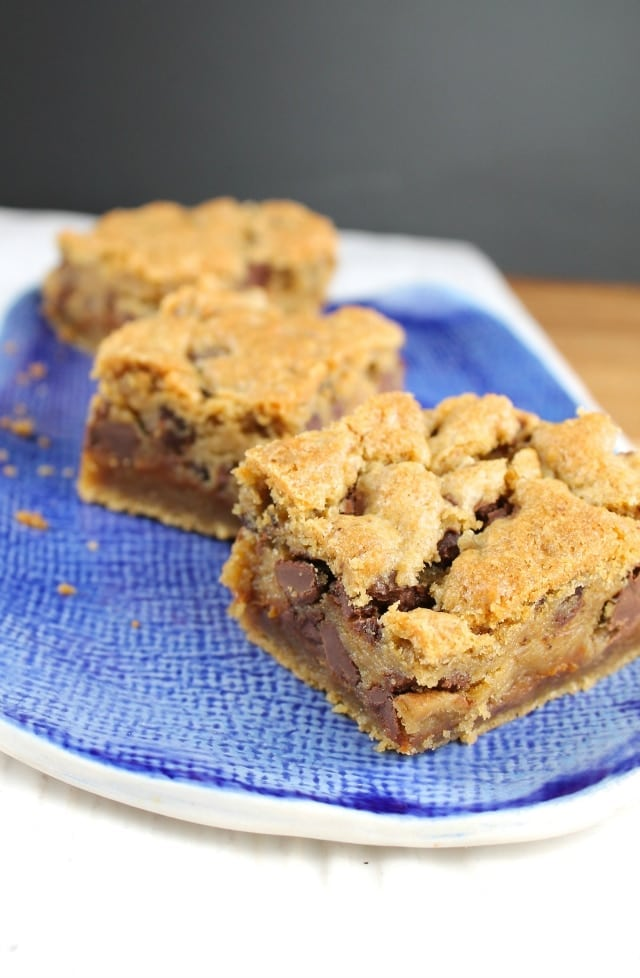Recipe for Peanut Butter Chocolate Chip Cookie Bars Miss in the Kitchen