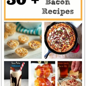 50+ Game Day Bacon Recipes: Everything you need for the ultimate game day party! Pizza, sandwiches, chips and dip plus desserts!  All featuring BACON!