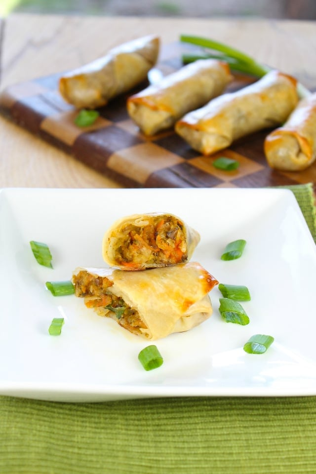 Baked Veggie Egg Rolls from Miss in the Kitchen