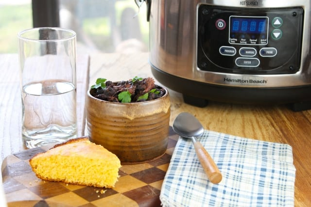 Slow Cooker Black Beans Recipe from Miss in the Kitchen
