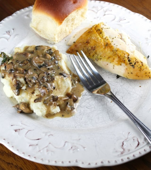 Herb Roasted Chicken Dinner from MIss in the Kitchen