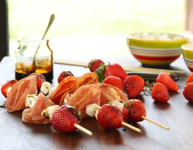 Strawberry Mozzarella Salami Skewers Recipe| Miss in the Kitchen