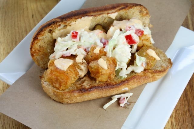 Beer Battered Catfish Po Boys with Red Pepper Garlic Slaw Miss in the Kitchen
