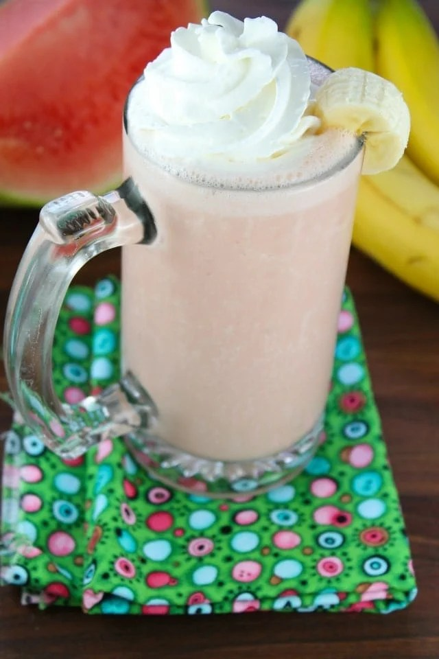 Banana Watermelon Smoothie from Miss in then Kitchen