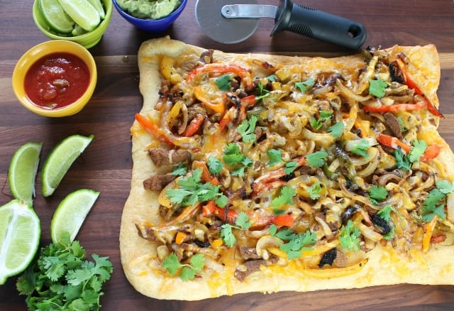 Miss in the Kitchen  Steak Fajita Flatbreads