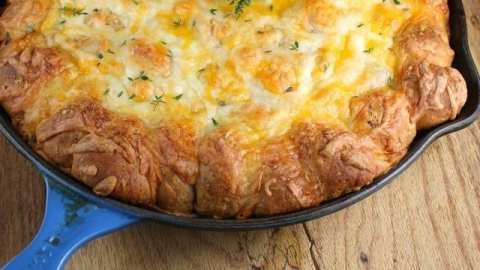 Cheesy Sausage Pull Apart Breakfast Bake