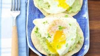Egg and Smashed Avocado Tostadas