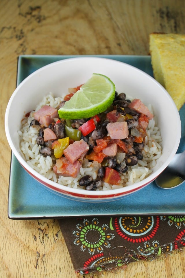 Ham with Orca Beans and Rice  Miss in the Kitchen