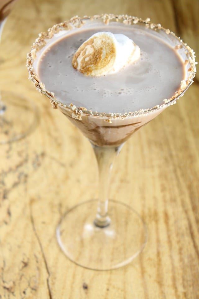 S'mores Martini from Miss in the Kitchen