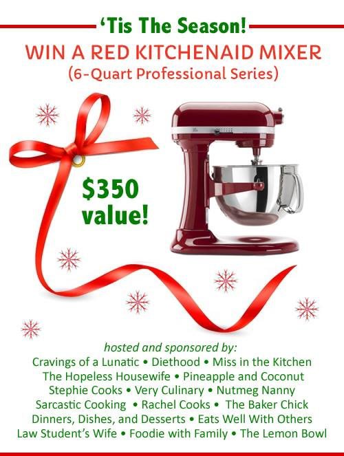 Christmas KitchenAid 6 Quart Professional Mixer Giveaway