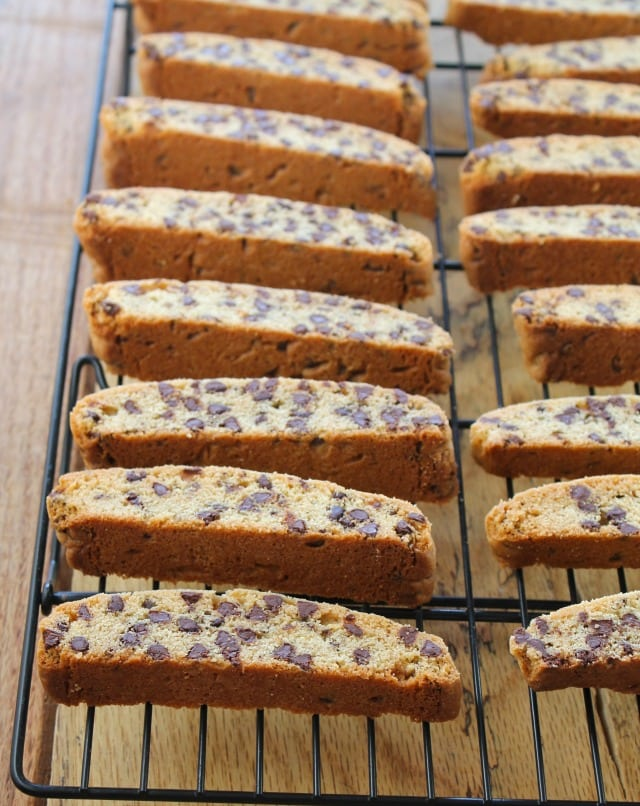 Chocolate Chip Biscotti From missinthekitchen.com