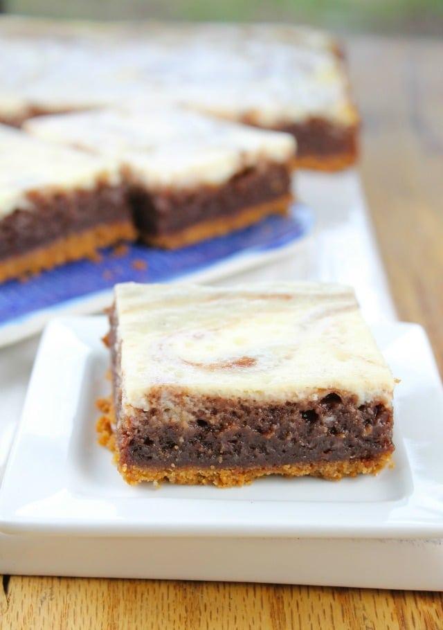 Cheesecake Swirl Brownie Bars Miss in the Kitchen