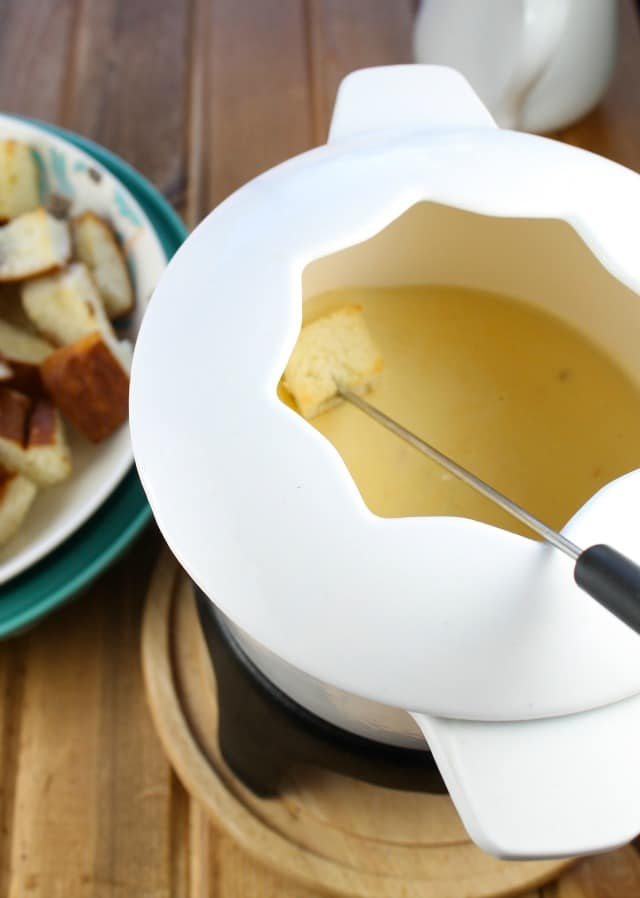 Three Cheese Fondue from Miss in the Kitchen #ProgressiveEats