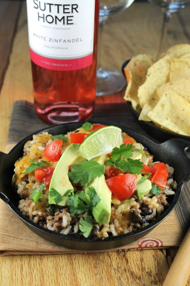 Tex-Mex Cheesy Rice Casserole with Ground Beef from Miss in the Kitchen
