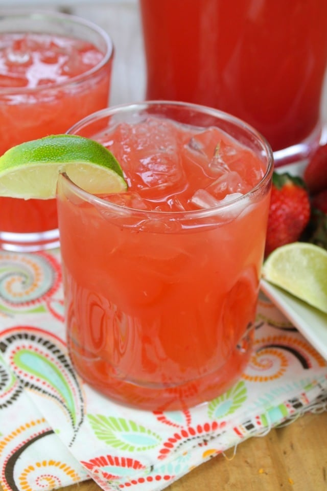 Easy Strawberry Limeade Punch from Miss in the Kitchen