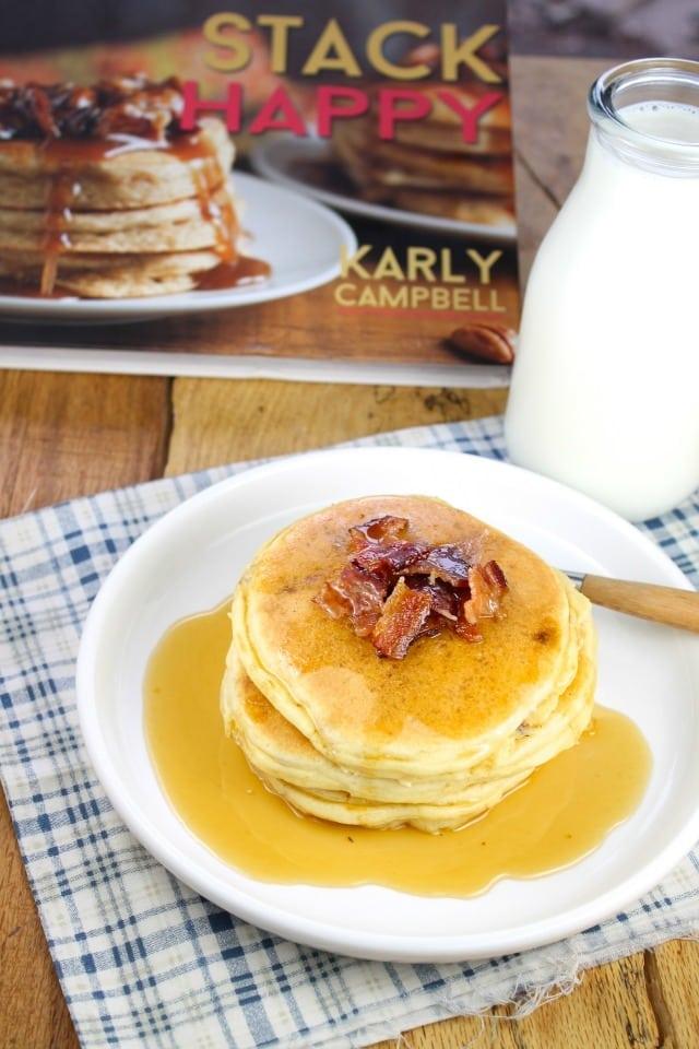 Stack Happy Bacon Pancakes missinthekitchen.com