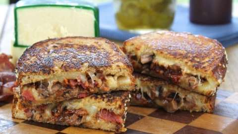Barbecue Beef and Bacon Grilled Cheese