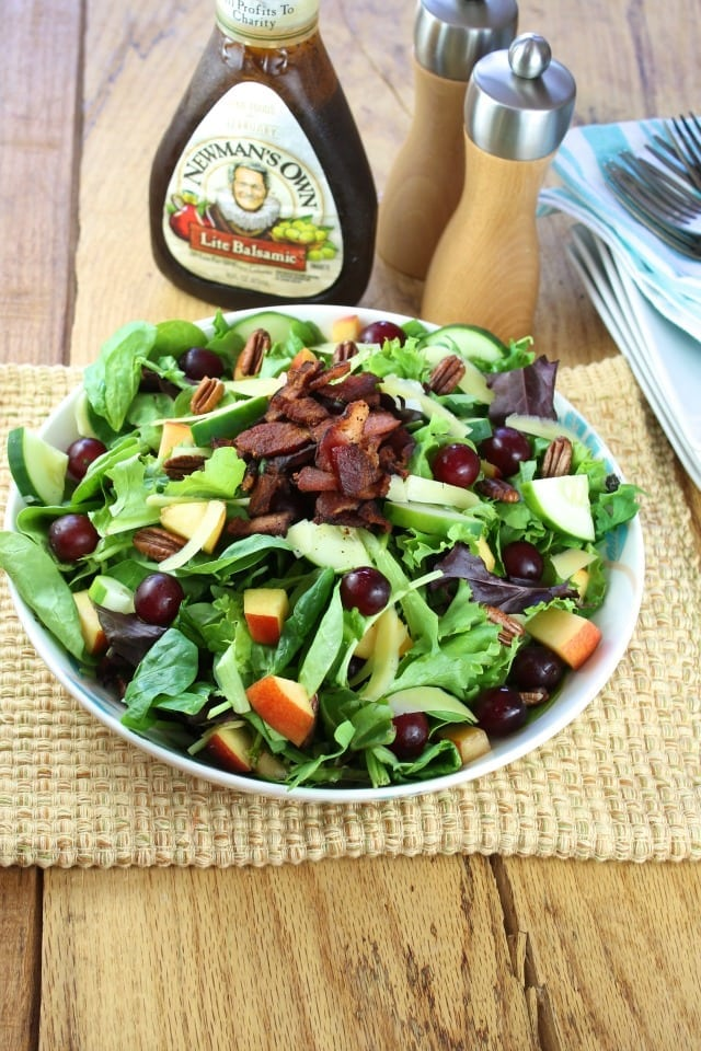 Balsamic, Bacon and Pecan Summer Salad Recipe from missinthekitchen.com
