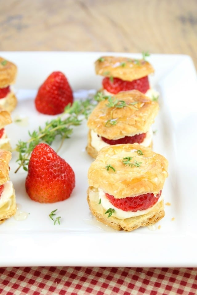 Strawberries and Cream Puff Pastry Bites - Miss in the Kitchen
