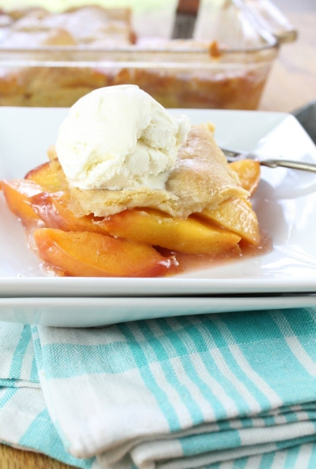 Buttery Nectarine Squares for BHG Delish Dish from MissintheKitchen