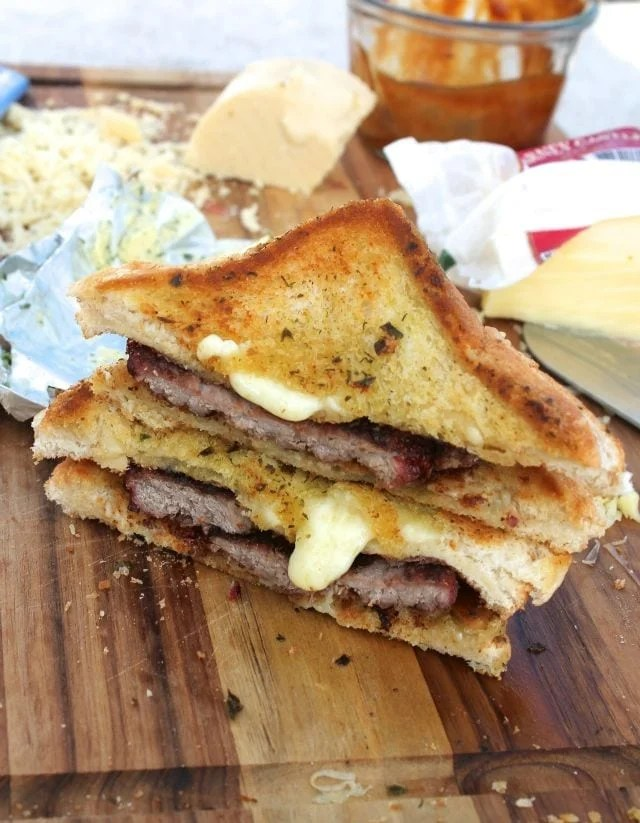 Double Grilled Cheese Burgers with Kerrygold from Miss in the Kitchen
