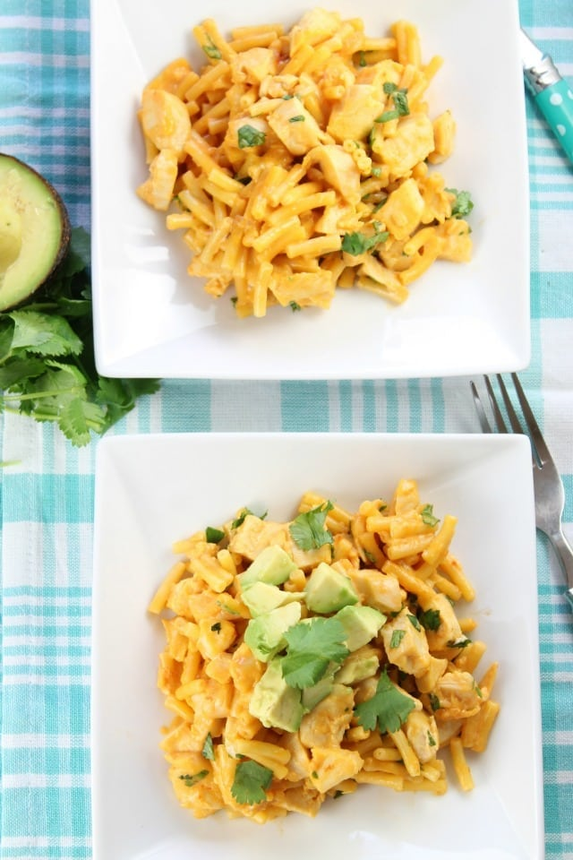 Tex-Mex Chicken Mac and Cheese Recipe ~ a quick and easy weeknight dinner from Miss in the Kitchen