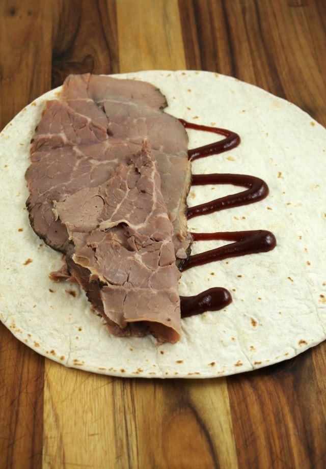 BBQ Roast Beef Wrap Miss in the Kitchen
