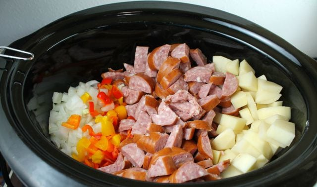 Slow Cooker Smoked Sausage and Pot