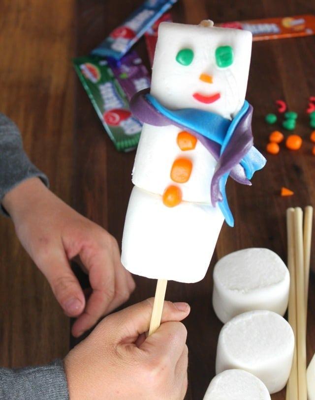 Airheads Marshmallow Snowmen ~ Miss in the Kitchen