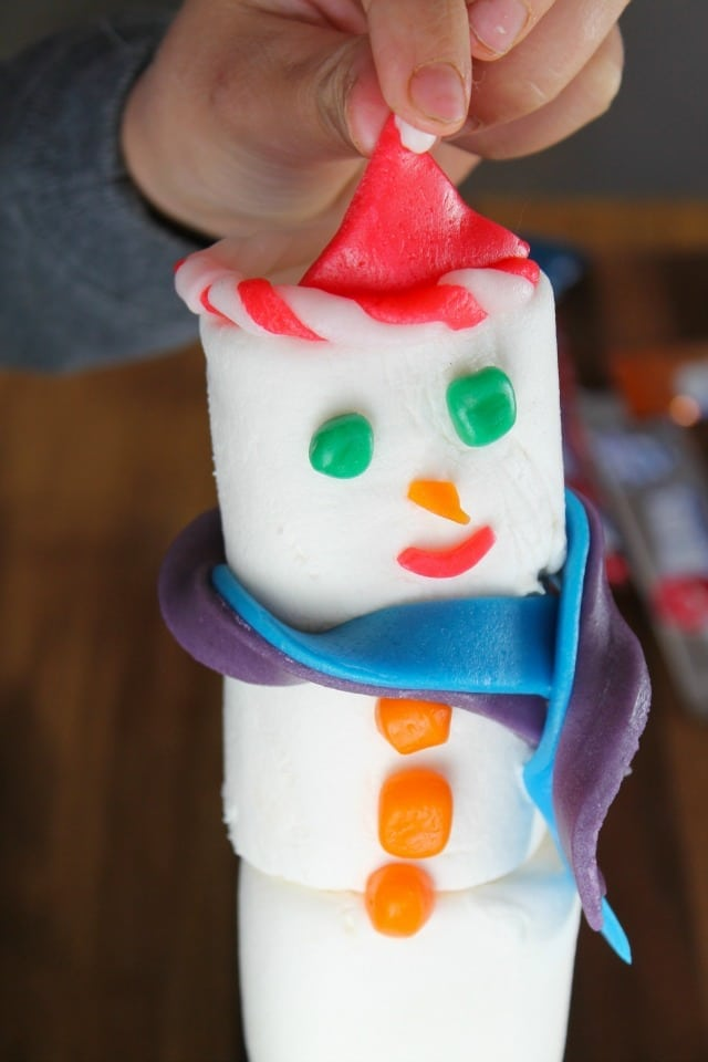 Building the Santa Hats for Airheads Snowmen ~ Miss in the Kitchen