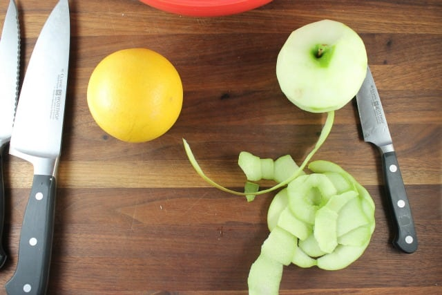 Peeled Apple for Cranberry Salad from Miss in the Kitchen