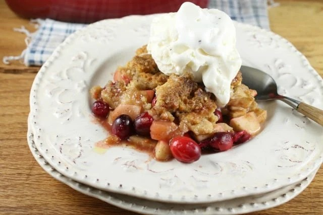 Apple Cranberry Almond Crumble from MissintheKitchen