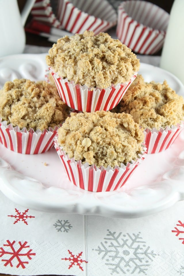 Chocolate Chunk Coffee Cake Muffins ~ Recipe ~ MissintheKitchen.com #sponsored